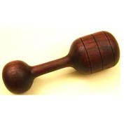 Heirloom Natural Wood Rattle - Walnut