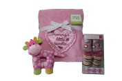Pink Blanket Socks Rattle Bundle of 3