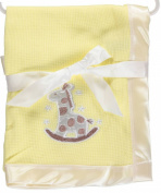 "Snugly Baby ""Rocking Giraffe"" Receiving Blanket - yellow, one size"