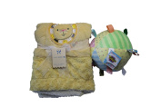Baby Bundle of 2 - Monlapin Lion Baby Blanket and Taggies Rattle Ball