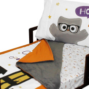 4pc RoomCraft Halloween Boo Buddies Toddler Bedding Set Holiday Blanket and Sheet Set