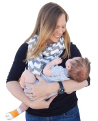 Two-Sided Infinity Nursing Scarf & Cover for Breastfeeding Babies & Mothers. The Softest, Most Stylish Way to Nurse Your Baby in Total Privacy. Premium Quality Nursing Cover Fits Plus-Sized Moms,Too.