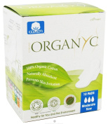 Organyc - Moderate Flow Pads - 10 Count - Pack of 3