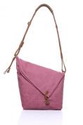 Betus Cowhide Crazy Canvas Shoulder Messenger Bag Handbag Retro Package