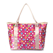 Hoxis Korean Style Variety Prints Functional Organiser Changing bag Waterproof Lightweight Mummy Nappy Tote Bag With Shoulder Strap