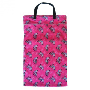 Large Hanging Wet Dry Bag for Cloth Nappies or Laundry, Zebra
