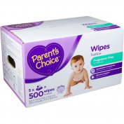 Parent's Choice Unscented Baby Wipes, 500 Ct Fragrance Free