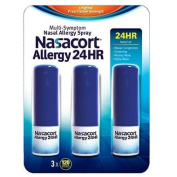Nasacort Nasal Allergy Spray, 720 Sprays Total, 6 x 120 Spray Dispensers, 0.57 Fluid Ounces Each Nasacort-hi