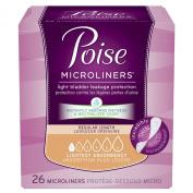 Poise Microliners Regular Length Lightest Absorbancy 26