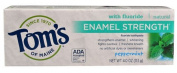 Tom's of Maine Enamel Strength Fluoride Toothpaste, Peppermint, 120ml