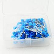 icarekit 100 PCS Dental Polishing Polish Prophy Cup Brush 4 Webbed Blue Colour Latch Type