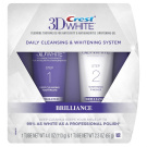 Crest 3D White Brilliance Daily Cleansing Toothpaste & Whitening Gel System, 120ml70ml