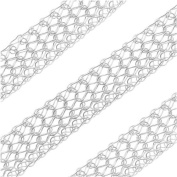 SilverSilk 8-Needle Flat 4.8mm Knit Wire Mesh - Silver Plated - Sold By The Foot