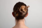 Handmade Decorative Wooden Hair Pin with Elegant Carving in Ethnic Style