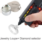 Luckystone® Jewellery Diamond Tester Selector II Tool LED + Jewellery Loupe