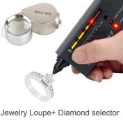 Luckystone® Jewellery Diamond Tester Selector II Tool LED + Jewellery Loupe