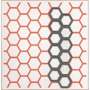 Ecstasy Crafts Marianne Design Embossing Folder and Die, Chicken Wire, 3.2cm by 11cm