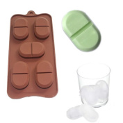 X-Haibei Chill Pill Soap Ice Cube Tray Chocolate Candy Mould Silicone 5-cavity