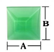 Stained Glass 3x3 Green Square Bevels 6 Pack