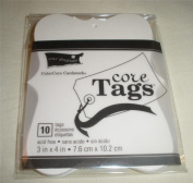 Core'dinations Fashion Tags - Ivory - Large - 3 x 4 - 10 pieces