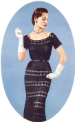 Vintage Crochet PATTERN to make - Lace Evening Holiday Dress. NOT a finished item. This is a pattern and/or instructions to make the item only.