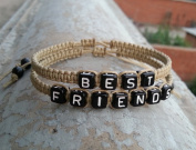 Friendship Bracelet, Best Friends Bracelet, Hand Weaving Bracelet, Light Coffee Bracelet, Gift to Best Friend