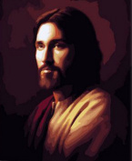 Greek Art Paintworks Paint Colour By Number Kits,Great Jesus,41cm by 50cm