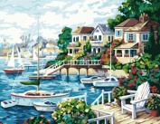 Greek Art Paintworks Paint Colour By Number Kit,Sunshine Coast styleB,41cm by 50cm