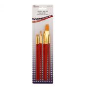 US Art Supply Golden Taklon 7-Piece Nylon Hair Artist Paint Brush Set