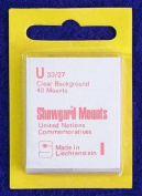 Showgard Pre-Cut Clear Stamp Mounts Size U33/27