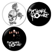 My Chemical Romance #3 Pinback Buttons Badges/Pin 1.25 Inch (32mm) Set of 3 New