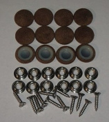 Set Of 12 Dura Snap Upholstery Buttons #30 Brown Velour
