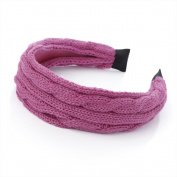 Bling Online Knitwear Covered Headband. 3cm Pink