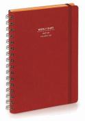 Nava 2016 Diary Weekly Medium Red