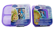 Disney Frozen 3 Sectioned Lunch Kit and 2 Sandwich Containers