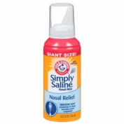 Simply Saline Adult Nasal Mist, Original Giant Size, 130ml 6 Count , Simply-htfy