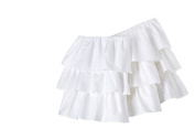 Triple Ruffle Solid White Crib Skirt