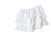 Triple Ruffle Solid White Crib Skirt