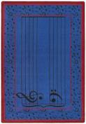 Joy Carpets Kid Essentials Music & Special Needs Fully Staffed Rug, Blue, 0.9m x 1.5m