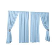 Sweet Dreams Twill Window Panel - Blue