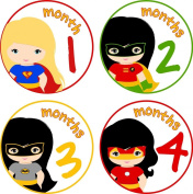 Little LillyBug Designs - Monthly Baby Stickers - Super Hero Girls