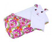 Vera Bradley Baby Hooded Towel and Bath Mitt-LILLI BELL