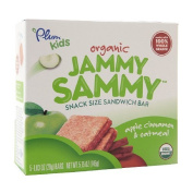 Plum Kids Organic Jammy Sammy Snack Size Sandwich Bar, Apple Cinnamon & Oatmeal 150ml (145 g)