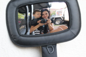 The #1 Baby Car Mirror from Giggling Monkey for all Vehicles with No Headrest Needed . Large Crystal Clear High Definition Image of Your Infant. Safe View for Mom and Dad with Soft Outer Cover for Safety, Extra Large, Shatterproof, Fully Adjustable. Ma ..