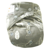 "Kawaii Baby Bamboo Charcoal One Size Cloth Nappy with 2 Four Layers Inserts "" Rocket """