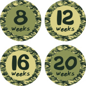 Little LillyBug Designs - Pregnancy Milestone Stickers - Baby Bump - Camo