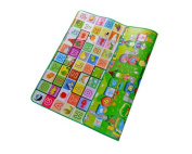 DSstyles 200 x 180 x 0.5 cm Thickness Environmental Foldable Thickened Double-sided Foam Waterproof Baby Crawling Pad Children Game Mat - Alphabet + Game