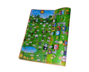 DSstyles 200 x 180 x 1 cm Thickness Environmental Foldable Thickened Double-sided Foam Waterproof Baby Crawling Pad Children Game Mat - Game + Animal