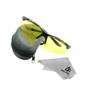 EverTrust(TM) UK Outdoor Sports Cycling Sunglasses Safety Eyewear Goggle for Bicycle Riding Fishing Universal Glasses-Yellow