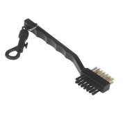 EverTrust(TM) UK Portable 2 Side Way Dual Bristles Golf Club Brush Cleaner Ball Cleaning Clip Groove Lightweight